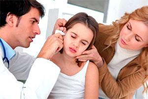 У ребёнка заложило ухо