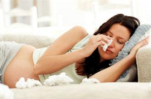 Насморк во время беременности